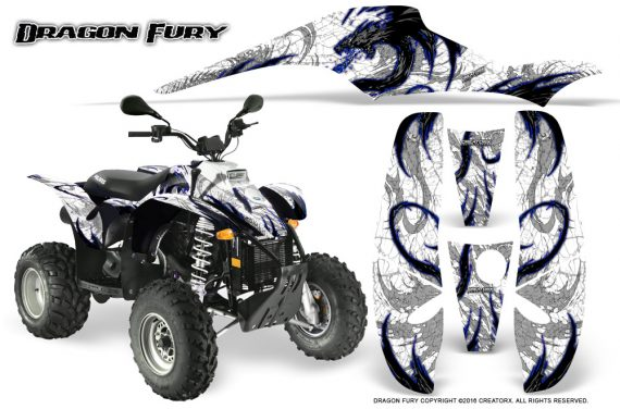 POLARIS Scrambler 500 Trailblazer 350 Graphics Kit Dragon Fury Blue White 570x376 - Polaris Scrambler Trailblazer 1985-2009 Graphics