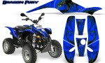 POLARIS Scrambler 500 Trailblazer 350 Graphics Kit Dragon Fury Green Blue 150x90 - Polaris Scrambler Trailblazer 1985-2009 Graphics