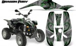 POLARIS Scrambler 500 Trailblazer 350 Graphics Kit Dragon Fury Green Silver 150x90 - Polaris Scrambler Trailblazer 1985-2009 Graphics