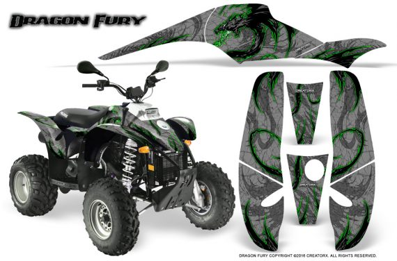 POLARIS Scrambler 500 Trailblazer 350 Graphics Kit Dragon Fury Green Silver 570x376 - Polaris Scrambler Trailblazer 1985-2009 Graphics