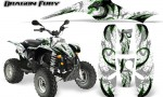POLARIS Scrambler 500 Trailblazer 350 Graphics Kit Dragon Fury Green White 150x90 - Polaris Scrambler Trailblazer 1985-2009 Graphics