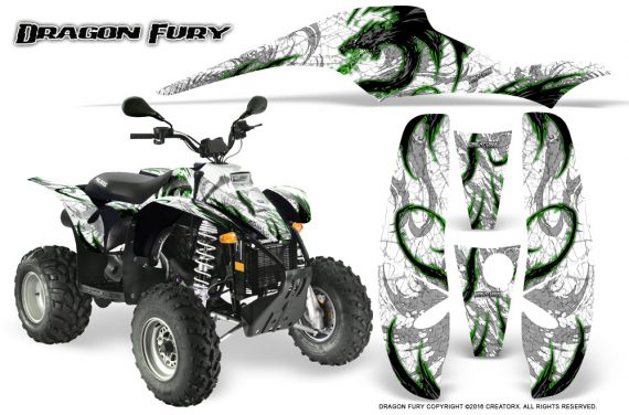 POLARIS Scrambler 500 Trailblazer 350 Graphics Kit Dragon Fury Green White 570x376 - Polaris Scrambler Trailblazer 1985-2009 Graphics