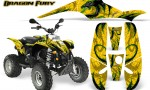 POLARIS Scrambler 500 Trailblazer 350 Graphics Kit Dragon Fury Green Yellow 150x90 - Polaris Scrambler Trailblazer 1985-2009 Graphics