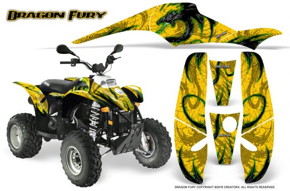 POLARIS Scrambler 500 Trailblazer 350 Graphics Kit Dragon Fury Green Yellow 570x376 - Polaris Scrambler Trailblazer 1985-2009 Graphics