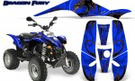 POLARIS Scrambler 500 Trailblazer 350 Graphics Kit Dragon Fury Orange Blue 150x90 - Polaris Scrambler Trailblazer 1985-2009 Graphics