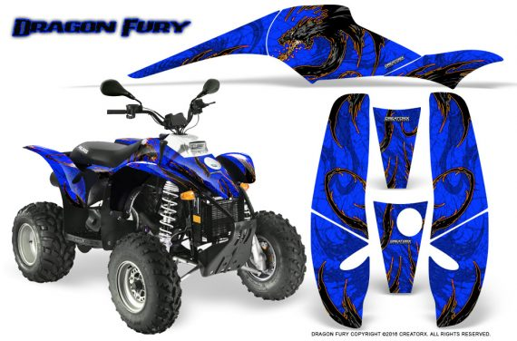 POLARIS Scrambler 500 Trailblazer 350 Graphics Kit Dragon Fury Orange Blue 570x376 - Polaris Scrambler Trailblazer 1985-2009 Graphics