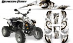 POLARIS Scrambler 500 Trailblazer 350 Graphics Kit Dragon Fury Orange White 150x90 - Polaris Scrambler Trailblazer 1985-2009 Graphics