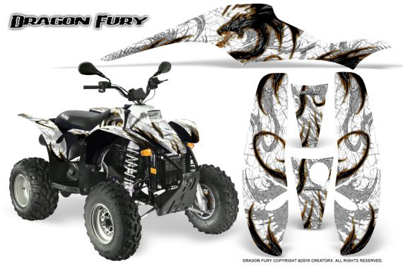 POLARIS Scrambler 500 Trailblazer 350 Graphics Kit Dragon Fury Orange White 570x376 - Polaris Scrambler Trailblazer 1985-2009 Graphics
