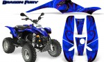 POLARIS Scrambler 500 Trailblazer 350 Graphics Kit Dragon Fury Pink Blue 150x90 - Polaris Scrambler Trailblazer 1985-2009 Graphics