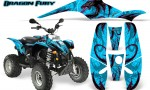 POLARIS Scrambler 500 Trailblazer 350 Graphics Kit Dragon Fury Pink BlueIce 150x90 - Polaris Scrambler Trailblazer 1985-2009 Graphics