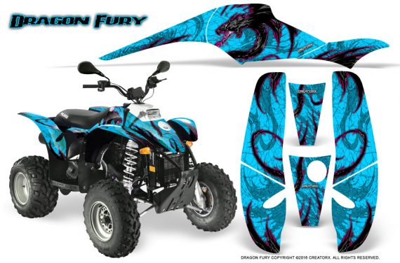 POLARIS Scrambler 500 Trailblazer 350 Graphics Kit Dragon Fury Pink BlueIce 570x376 - Polaris Scrambler Trailblazer 1985-2009 Graphics