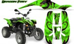 POLARIS Scrambler 500 Trailblazer 350 Graphics Kit Dragon Fury Pink Green 150x90 - Polaris Scrambler Trailblazer 1985-2009 Graphics