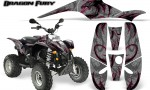 POLARIS Scrambler 500 Trailblazer 350 Graphics Kit Dragon Fury Pink Silver 150x90 - Polaris Scrambler Trailblazer 1985-2009 Graphics
