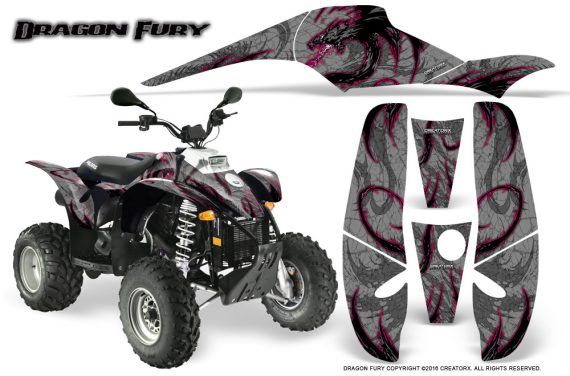 POLARIS Scrambler 500 Trailblazer 350 Graphics Kit Dragon Fury Pink Silver 570x376 - Polaris Scrambler Trailblazer 1985-2009 Graphics
