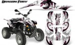 POLARIS Scrambler 500 Trailblazer 350 Graphics Kit Dragon Fury Pink White 150x90 - Polaris Scrambler Trailblazer 1985-2009 Graphics