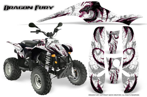 POLARIS Scrambler 500 Trailblazer 350 Graphics Kit Dragon Fury Pink White 570x376 - Polaris Scrambler Trailblazer 1985-2009 Graphics