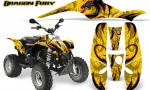 POLARIS Scrambler 500 Trailblazer 350 Graphics Kit Dragon Fury Pink Yellow 150x90 - Polaris Scrambler Trailblazer 1985-2009 Graphics
