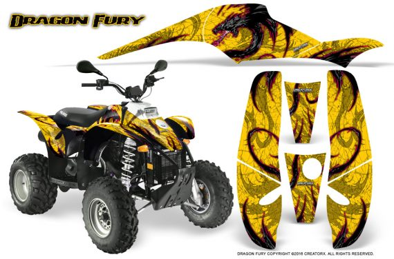 POLARIS Scrambler 500 Trailblazer 350 Graphics Kit Dragon Fury Pink Yellow 570x376 - Polaris Scrambler Trailblazer 1985-2009 Graphics