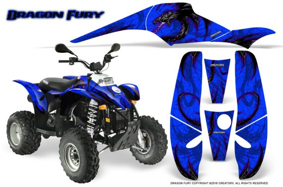 POLARIS Scrambler 500 Trailblazer 350 Graphics Kit Dragon Fury Purple Blue 570x376 - Polaris Scrambler Trailblazer 1985-2009 Graphics