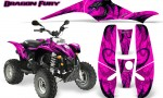 POLARIS Scrambler 500 Trailblazer 350 Graphics Kit Dragon Fury Purple Pink 150x90 - Polaris Scrambler Trailblazer 1985-2009 Graphics