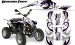 POLARIS Scrambler 500 Trailblazer 350 Graphics Kit Dragon Fury Purple White 150x90 - Polaris Scrambler Trailblazer 1985-2009 Graphics