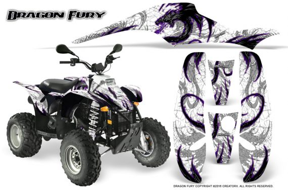 POLARIS Scrambler 500 Trailblazer 350 Graphics Kit Dragon Fury Purple White 570x376 - Polaris Scrambler Trailblazer 1985-2009 Graphics