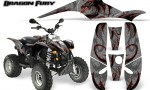 POLARIS Scrambler 500 Trailblazer 350 Graphics Kit Dragon Fury Red Silver 150x90 - Polaris Scrambler Trailblazer 1985-2009 Graphics