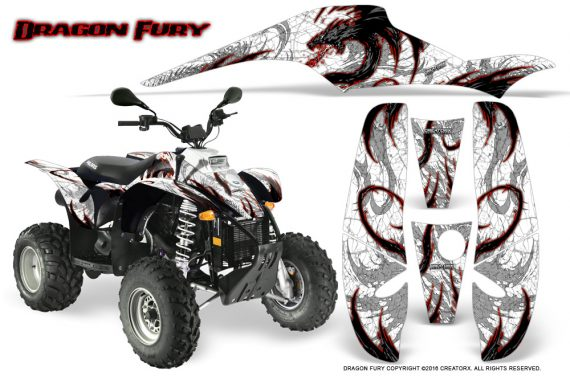 POLARIS Scrambler 500 Trailblazer 350 Graphics Kit Dragon Fury Red White 570x376 - Polaris Scrambler Trailblazer 1985-2009 Graphics