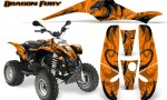 POLARIS Scrambler 500 Trailblazer 350 Graphics Kit Dragon Fury Silver Orange 150x90 - Polaris Scrambler Trailblazer 1985-2009 Graphics