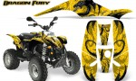 POLARIS Scrambler 500 Trailblazer 350 Graphics Kit Dragon Fury Silver Yellow 150x90 - Polaris Scrambler Trailblazer 1985-2009 Graphics