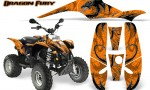 POLARIS Scrambler 500 Trailblazer 350 Graphics Kit Dragon Fury White Orange 150x90 - Polaris Scrambler Trailblazer 1985-2009 Graphics
