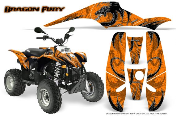 POLARIS Scrambler 500 Trailblazer 350 Graphics Kit Dragon Fury White Orange 570x376 - Polaris Scrambler Trailblazer 1985-2009 Graphics