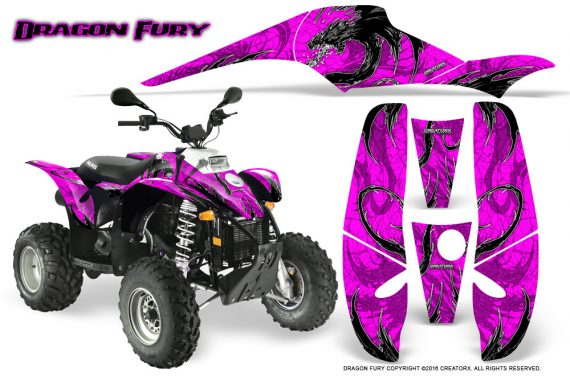 POLARIS Scrambler 500 Trailblazer 350 Graphics Kit Dragon Fury White Pink 570x376 - Polaris Scrambler Trailblazer 1985-2009 Graphics