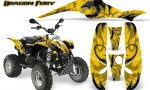POLARIS Scrambler 500 Trailblazer 350 Graphics Kit Dragon Fury White Yellow 150x90 - Polaris Scrambler Trailblazer 1985-2009 Graphics