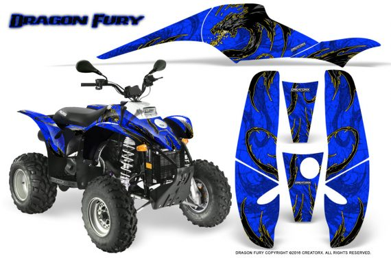 POLARIS Scrambler 500 Trailblazer 350 Graphics Kit Dragon Fury Yellow Blue 570x376 - Polaris Scrambler Trailblazer 1985-2009 Graphics