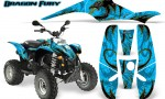POLARIS Scrambler 500 Trailblazer 350 Graphics Kit Dragon Fury Yellow BlueIce 150x90 - Polaris Scrambler Trailblazer 1985-2009 Graphics