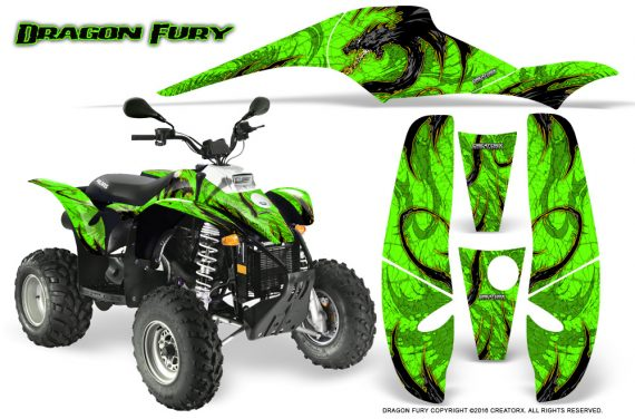 POLARIS Scrambler 500 Trailblazer 350 Graphics Kit Dragon Fury Yellow Green 570x376 - Polaris Scrambler Trailblazer 1985-2009 Graphics