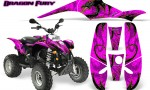 POLARIS Scrambler 500 Trailblazer 350 Graphics Kit Dragon Fury Yellow Pink 150x90 - Polaris Scrambler Trailblazer 1985-2009 Graphics