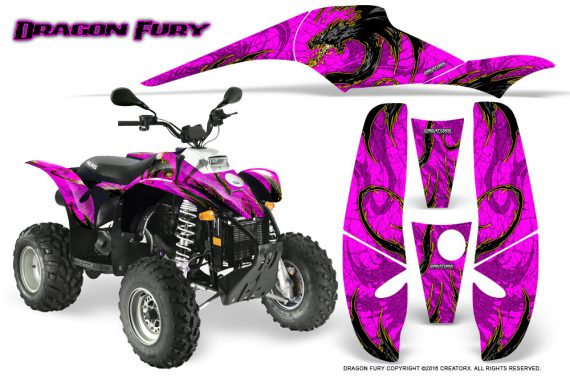 POLARIS Scrambler 500 Trailblazer 350 Graphics Kit Dragon Fury Yellow Pink 570x376 - Polaris Scrambler Trailblazer 1985-2009 Graphics