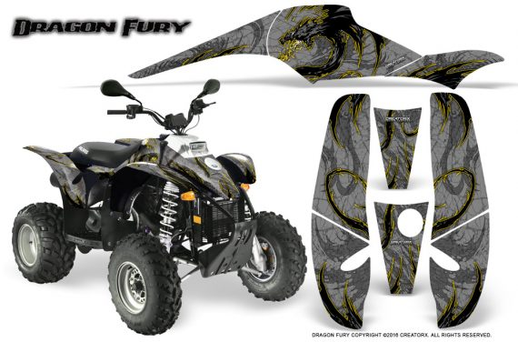 POLARIS Scrambler 500 Trailblazer 350 Graphics Kit Dragon Fury Yellow Silver 570x376 - Polaris Scrambler Trailblazer 1985-2009 Graphics