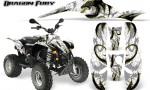 POLARIS Scrambler 500 Trailblazer 350 Graphics Kit Dragon Fury Yellow White 150x90 - Polaris Scrambler Trailblazer 1985-2009 Graphics