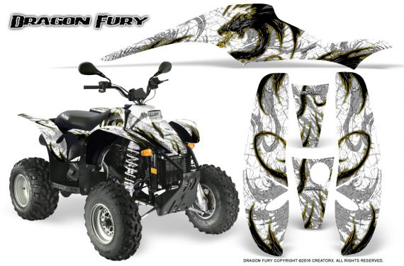 POLARIS Scrambler 500 Trailblazer 350 Graphics Kit Dragon Fury Yellow White 570x376 - Polaris Scrambler Trailblazer 1985-2009 Graphics