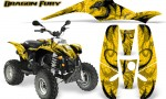 POLARIS Scrambler 500 Trailblazer 350 Graphics Kit Dragon Fury Yellow Yellow 150x90 - Polaris Scrambler Trailblazer 1985-2009 Graphics