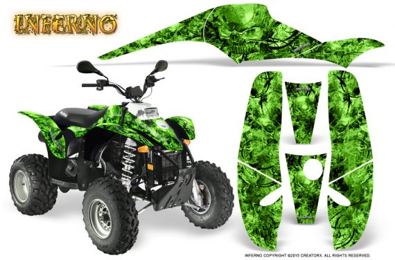 POLARIS Scrambler 500 Trailblazer 350 Graphics Kit Inferno Green 570x376 - Polaris Scrambler Trailblazer 1985-2009 Graphics