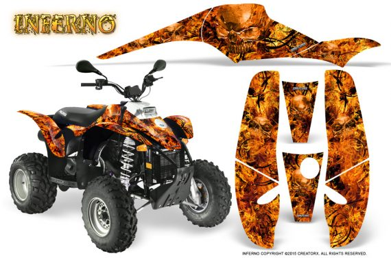 POLARIS Scrambler 500 Trailblazer 350 Graphics Kit Inferno Orange 570x376 - Polaris Scrambler Trailblazer 1985-2009 Graphics