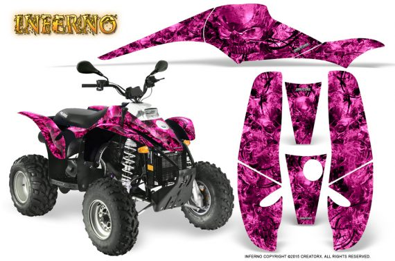 POLARIS Scrambler 500 Trailblazer 350 Graphics Kit Inferno Pink 570x376 - Polaris Scrambler Trailblazer 1985-2009 Graphics