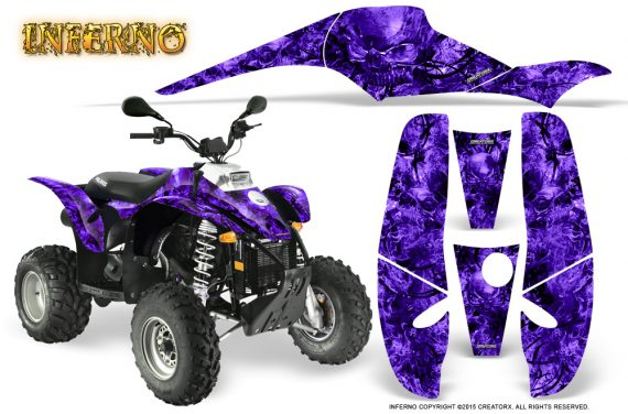 POLARIS Scrambler 500 Trailblazer 350 Graphics Kit Inferno Purple 570x376 - Polaris Scrambler Trailblazer 1985-2009 Graphics