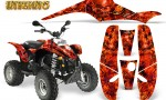 POLARIS Scrambler 500 Trailblazer 350 Graphics Kit Inferno Red 150x90 - Polaris Scrambler Trailblazer 1985-2009 Graphics