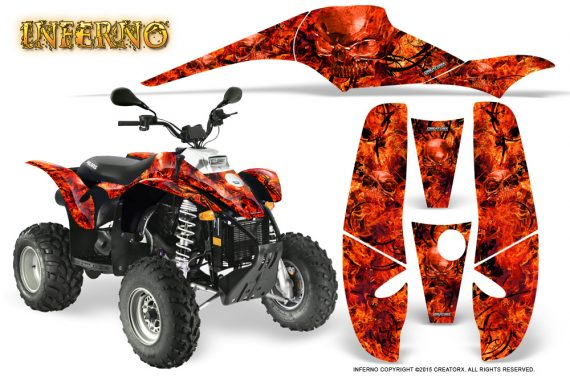 POLARIS Scrambler 500 Trailblazer 350 Graphics Kit Inferno Red 570x376 - Polaris Scrambler Trailblazer 1985-2009 Graphics
