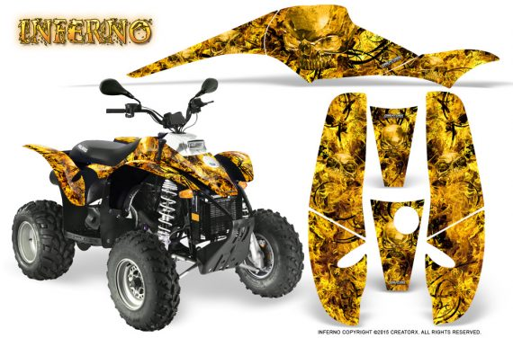 POLARIS Scrambler 500 Trailblazer 350 Graphics Kit Inferno Yellow 570x376 - Polaris Scrambler Trailblazer 1985-2009 Graphics